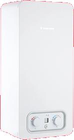 Esquentador compacto da gama Click HDG 2 com hidro-gerador da Vulcano