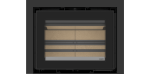 Recuperador de calor a lenha Vista 70 da ADF na opção de moldura de 50 mm dos 3 lados