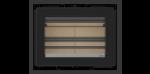 Dimensões do recuperador de calor a lenha Vista 70 da ADF na opção de molduras de 30 mm nos 4 lados