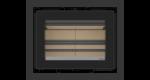 Dimensões do recuperador de calor a lenha Vista 70 da ADF na opção de moldura de 50 mm nos 4 lados