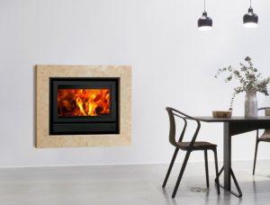 Recuperador de calor a lenha Square 70 da Flamebox