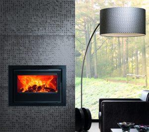 Recuperador de calor a lenha Vision 7.0 da Flamebox